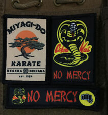 Karate Kid Morale Patch Lot 3 Patches Tactical Military Army Badge Hook Flag USA
