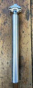 Retro Timec Silver Aluminium Micro Adjusting Seatpost - 30.0mm Diameter. *NOS