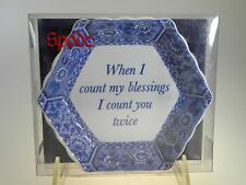 Spode Blue Room Hex Fluted Tray (When I Count My Blessings I Count You Twice)