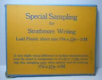Antique/Vintage Strathmore Writing Paper SPECIAL SAMPLING Laid Finish 80ct Box