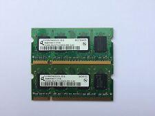 Par De 1GB (2x512MB) PC2-5300 2Rx16 doble cara seleccionados al azar marca Sodimm