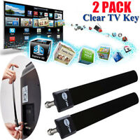 2*Clear TV Key HDTV Free TV Stick Satellite Indoor Digital Antenna Ditch Cable A