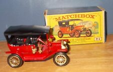 Matchbox Yesteryear Y1 Model T Ford Car Red Twin Brake Lever Issue 1