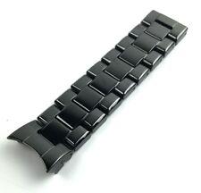 Hälfte Keramik schwarz 22mm Strap/Band/Armband für Emporio Armani Herrenuhr AR1414