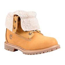Women's Timberland Boot Authentics Teddy Fleece Fold-Down Waterproof Wheat 8329R