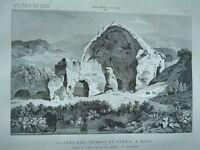 1845 Zuccagni-Orlandini Avanzi del Tempio di Diana a Baia Terra di Lavoro