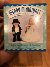 Hallmark Merry Miniatures Bride And Groom New In box 1998
