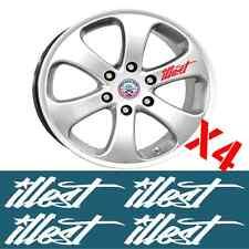 Illest Wheel Rim Decal Sticker Set X4 Detailing Jdm Drift Wheel Decals Stickers