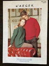 "Jaeger Knitting Pattern:Mens & Ladies Sweater, DK, 30-44"", 5040"