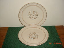 "2-PC COVINGTON EDITION ""IDLEWILD"" LARGE 10 3/4"" DINNER PLATES/CREAM/CLEARANCE!"