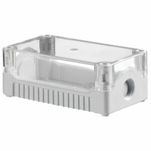 IP67 SEALED ABS JUNCTION BOX CLEAR/GREY PSB3TG 139 X 80 X 53mm