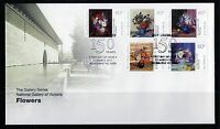 2011 Australia National Gallery Flowers Set Of 5 FDC, Mint Condition