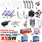 Ricambi DRONE SYMA X5SW/SC WIFI FPV eliche batterie caricatore usb camera motori