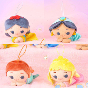 Cute Disney Princess Dreamy Snow White Aurora Jasmine Mermaid Ariel 4 Plush Set