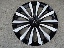 4 Radkappen für Citroen C3/C4/Berlingo in 16 Zoll schwarz/weiß Sonderanfertigung