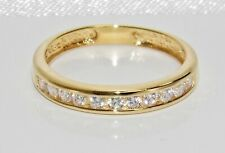 9ct Yellow Gold on Silver 0.25ct Diamond Eternity Ring - ALL SIZES AVAILABLE