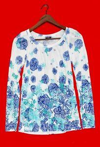 COSABELLA Damen Pijama Oberteil Jersey Modal mit Muster Langarm Rundhals Gr. M