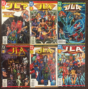 Justice Leagues 1 2 3 4 5 6 DC ? Amazons Atlantis Arkham Aliens America Set NM