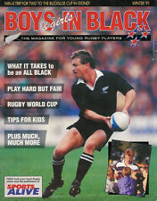 BOYS & GIRLS IN BLACK WINTER 1991 NEW ZEALAND MAGAZINE FOR YOUNG RUGBY PLAYERS