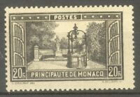 "MONACO STAMP TIMBRE N° 134 "" PLACETTE BOSIO 20F NOIR "" NEUF xx TB"