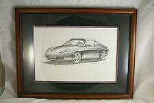 Porsche Engineer's Artwork for 911 Design - Original Porsche Designer - Framed