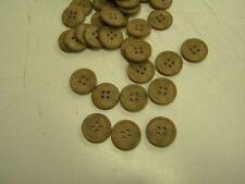 6 boutons mercerie plastique couleur devernois marron taupe 1.7 cm lot 1083