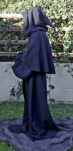 Black Robe for Halloween Grim Reaper/Monk/Larp/Cosplay sizes small to XXXL