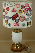 American RailRoad RR Vintage Patches Huge Collection of 60 on a lamp Amazing!