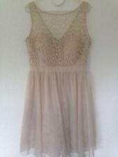 Cocktail Kleid *** beige *** gold *** Abschlussball   Hochzeit  Gr. 40