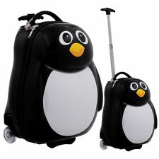 """2PC Kids Luggage Hard Shell Suitcase Backpack Travel Pull Handle Case 13"""" & 19"""""""