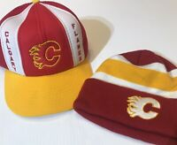 NEW vintage 1980's Calgary Flames NHL Hat and New Touqe