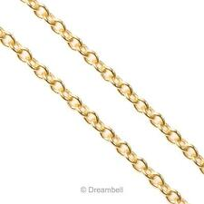"""12"""" 14k Gold Filled Oval Ring Rolo Link Footage Chain 1.2mm"""