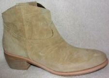 New Diba True Moon River Sand Suede Western Style Ankle Boots 9 M