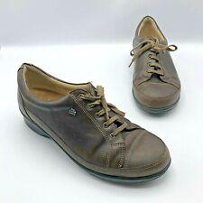 Finn Comfort 409 Women Brown Leather Cap Toe Sneaker Shoe Size 7.5 UK 5D