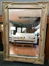 Authentic Antique FRIEDMAN BROTHERS Signed MIRROR Natural Wood Carved Frame