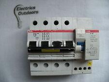 ABB 20 AMP TYPE C 10 kA 30 mA THREE POLE 3P+N MCB RCD 400V S273 NA D64 MAX 32