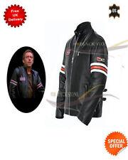 Blousons noirs en cuir, taille L pour motocyclette
