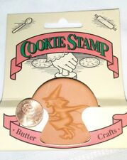 NEW Terra Cotta WITCH Cookie Stamp, Butter Craft by Fox Run