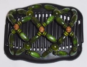 """Angel Wings Hair Clips 4x3.5,"""" African Butterfly Comb, Olive, US SELLER, SALE!"""