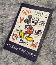 Disney Mickey Mouse Note Book Schedule Travel Diary Journal Gift Design Lovely