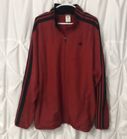 Adidas 3 Stripe 2006 Mens Full Zip Track Jacket Red & Black Size XL ClimaProof