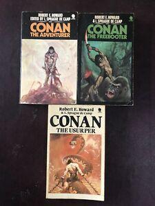 Vintage Conan The Barbarian Paperbacks. Robert E. Howard