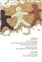 2 Euro Blister Coincard Italien 2004 Welternährungsprogramm