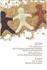 2 euro blister Coincard Italia 2004 programma alimentare mondiale
