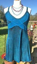 Fab nouveau turquoise pixie débardeur taille uk 10 12 boho hippie festival yoga dreads