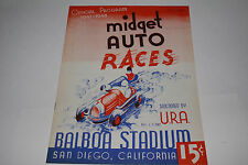 Midget Auto Races Program, San Diego Balboa Stadium, August 13 1947, Original