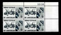 U.S.1970 SC# 1406  6 c Women Suffrage - Mint NH Plate Block of 4 Stamps