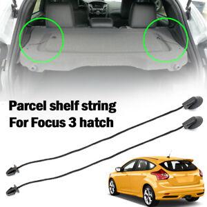 2X For FORD FOCUS MK3 Hatch REAR TRUNK Parcel Shelf Tray Cover String Strap Clip