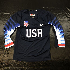 Men's Nike USA Olympic Hockey Team  Jersey Navy Size Medium