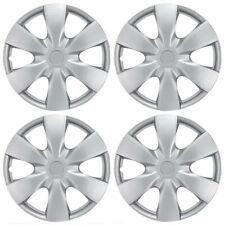 "Full Set of 15"" Silver Hub Caps Wheel Cover OEM Hubcaps Replacement (4 Pack)"